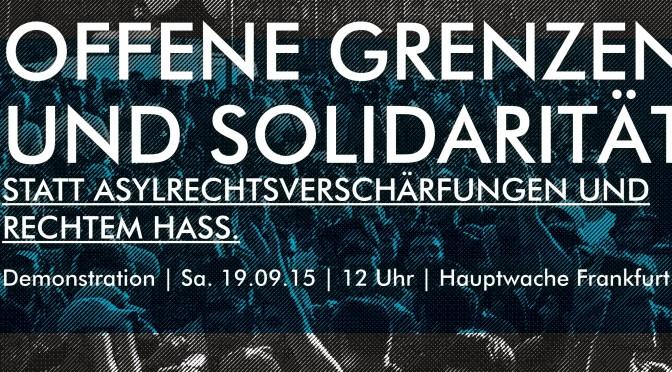 Redebeiträge und Berichterstattung zur Demo am 19.9.2015