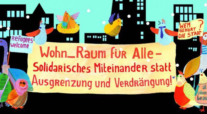 Demo am 4.2. in Frankfurt: Wohn_Raum für Alle – Solidarität statt Ausgrenzung!
